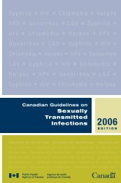 Canadian Guidelines on Sexually Transmitted Infections 2006 Edition