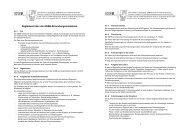 Reglement über die SGEB-Erkundungsmissionen
