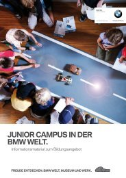 Junior CaMpus in der BMW Welt.