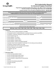 MRI Adult Head: Prior Authorization Request for Advanced Imaging
