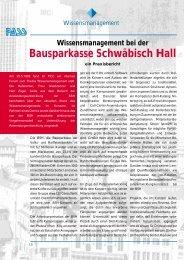 Bausparkasse Schwäbisch Hall - Profi4project.com