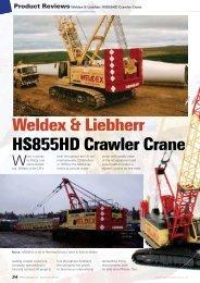 Weldex & Liebherr HS855HD Crawler Crane - NZG-Modelle GmbH