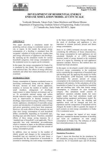development of residential energy end-use simulation model ... - ibpsa