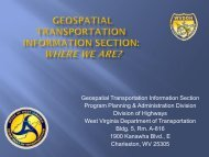 Geospatial Transportation Information - West Virginia Department of ...