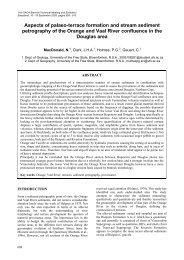Aspects of palaeo-terrace formation and stream sediment - Inkaba.org