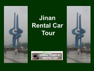 Jinan (Shandong, China) - Urban Tours by Rental Car