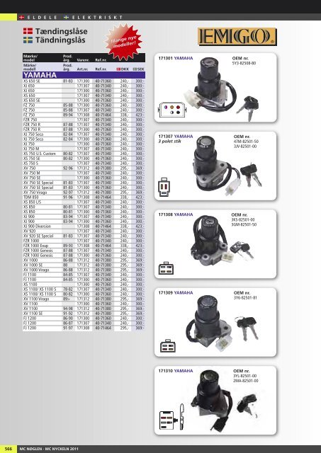 Tændingslåse Tändningslås - Masi-Import