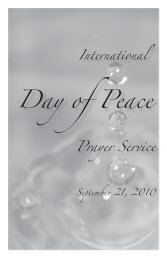 Day of Peace - Sisters of the Holy Cross
