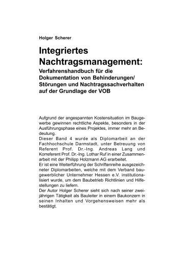 Integriertes Nachtragsmanagement: