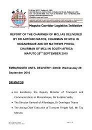 Chairmans Report - MCLI