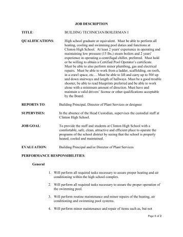 school custodian resume skills faceboulcom - Resume For Custodian