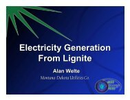 Generating electricity - Lignite Energy Council