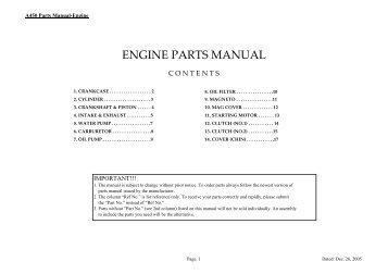 ENGINE PARTS MANUAL - Palles Import