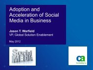 Adoption and Acceleration of Social Media in Business - IEEE CQR