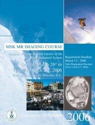 2006 - Department of Medical Imaging - University of Toronto
