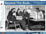 Beyond The Book… Digital Literacy, Games & The Learner