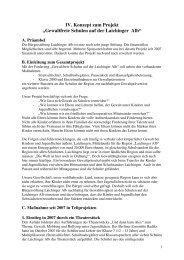 Konzeption Gewaltprävention - Bürgerstiftung Laichinger Alb