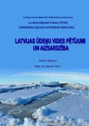 Konferences tēzes - Klimata maiņas ietekme uz Latvijas ūdeņu vidi