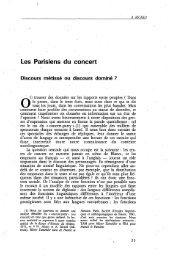Les Parisiens du concert : Discours métissé ou ... - Politique Africaine