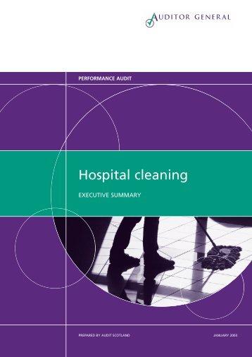 Hospital cleaning executive summary - Audit Scotland