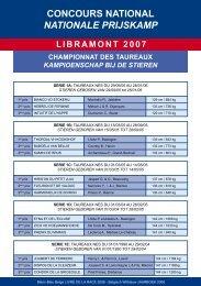 Wedstrijdresultaten LIBRAMONT 2007 - Blanc Bleu Belge