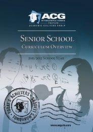 ACG Senior School Curriculum Overview - The Academic Colleges ...