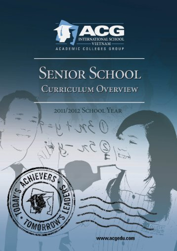 ACG Senior School Curriculum Overview - The Academic Colleges ...
