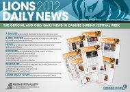 The official and only daily news in cannes during ... - Boutique Editions