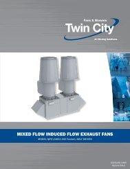 Mixed flow induced flow exhaust fans - Twin City Fan & Blower