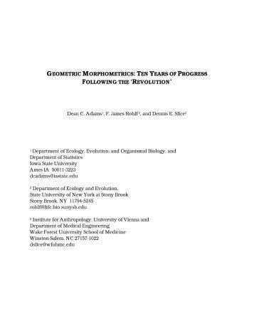 geometric morphometrics: ten years of progress ... - Filogenetica.org