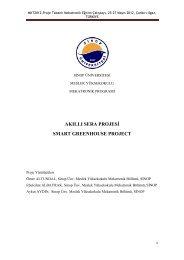 Akıllı Sera Projesi - Meslek Yüksekokulu