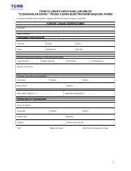 Başvuru Formu - Türkiye Çimento Müstahsilleri Birliği