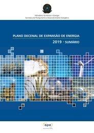 plano decenal de expansão de energia 2019 •sumário - EPE