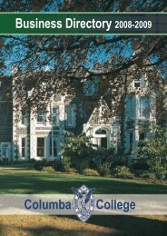 Columba College Business Directory 2008-2009 (pdf 9.5