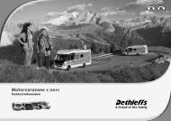 Technical Information Motorhomes 2011 - Dethleffs