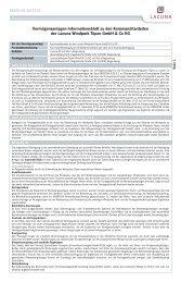 Vermögensanlagen-Informationsblatt zu den ... - HSC Finance