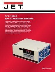 AFS-1000B AIR FILTRATION SYSTEM - JET Tools