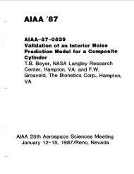 Alaa '87 AIAA-87-0529 Validation of an Interior ... - CAFE Foundation