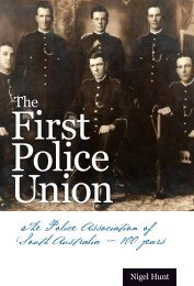 First Police Union - Wakefield Press