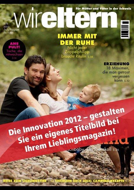 Die Innovation 2012 – gestalten Sie ein eigenes Titelbild bei Ihrem ...