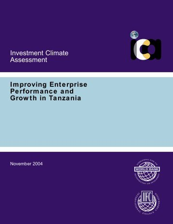 Improving Enterprise Performance and Growth in Tanzania