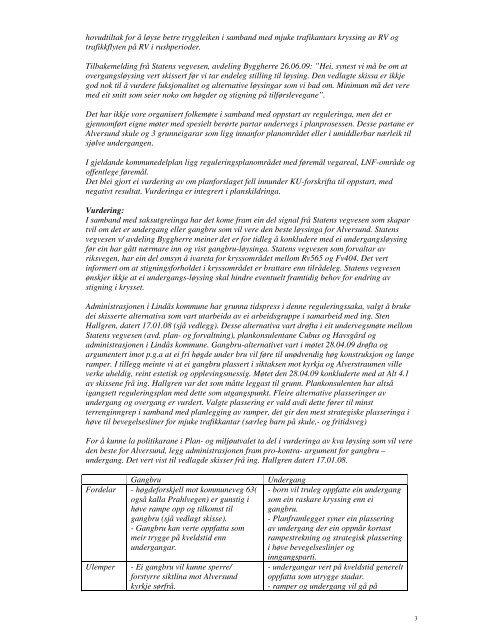 Reguleringsplan for trafikksikring og planfri kryssing i Alversund 2 ...