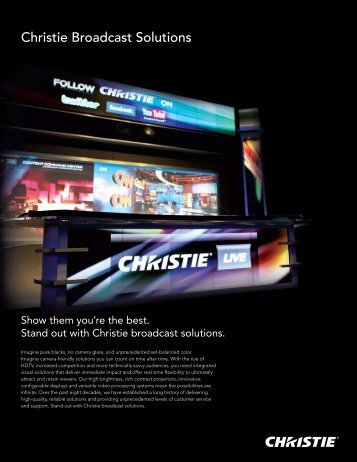 Christie Broadcast Solutions - Christie Digital Systems