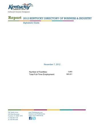 High-Tech Initiatives (pdf) - Kentucky Cabinet for Economic ...