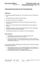 Technische Liefer- und Bezugsbedingungen TLB HB ...