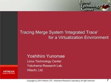 Tracing Merge System 'Integrated Trace' - Linux Foundation Events
