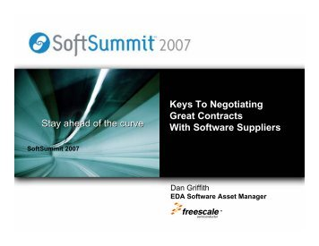Stay ahead of the curve Keys To Negotiating Great ... - SoftSummit