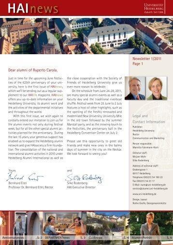 HAInews - Heidelberg Alumni International