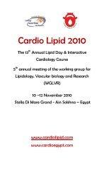 Thursday 26 /4/2007 - Working Group for Lipidology, Vascular ...