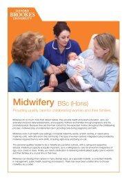 Midwifery - Oxford Brookes University